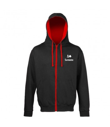 "Sweat zipped hoodie customized ""the Original"""