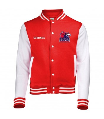 Jacket Teddy Varsity contrasting sleeves