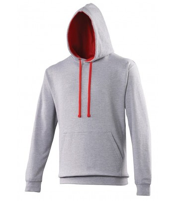 Thick sweatshirt with contrasting hood
