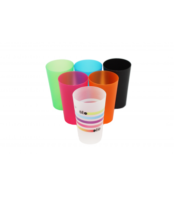 Reusable plastic glass