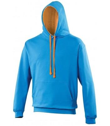 Sweatshirt thick hoody contrasting