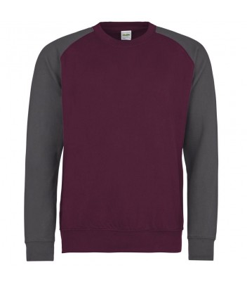 Sweater round neck with contrasting sleeves
