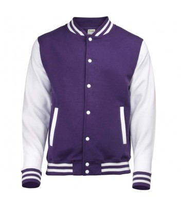 Teddy Varsity jacket with contrasting sleeves